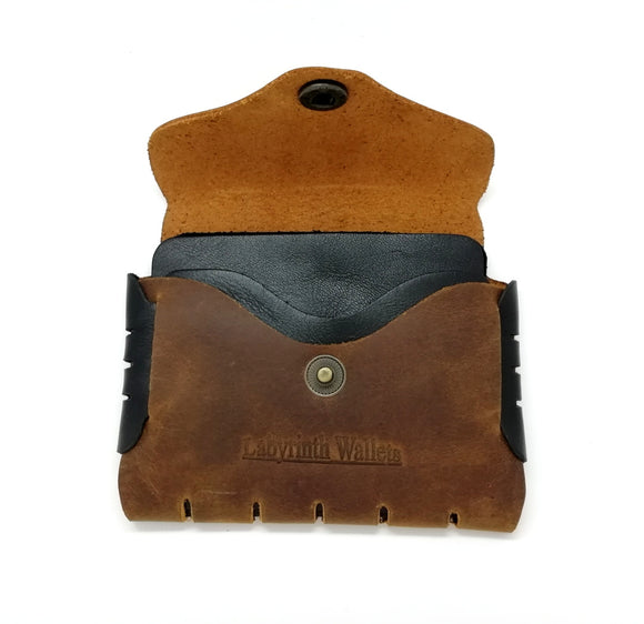 Dark Brown Seamless Leather Purse For Men
