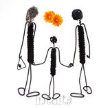 Family - Mum Dad and Child - Wire Figurine