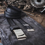 Recycled Bicycle Inner Tube Belt With Black Edges