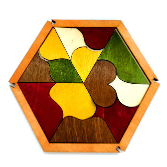 Hexagon Wooden Puzzle