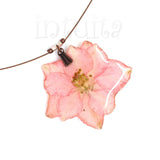 Soft Pink Shade Pressed Real Flower Pendant