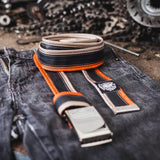 Bicycle Inner Tube Belt With Orange And Light Brown Sides