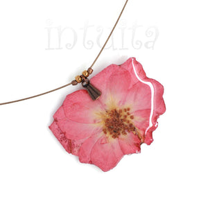 Light Pink Pressed Real Flower Pendant