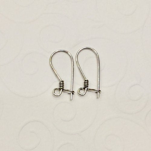 Sterling Silver Earring Kidney Ear Hook