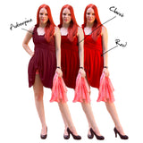 Claret Infinity Creative Coctail Dress