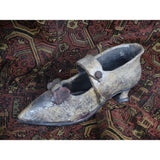 Victorian Style Raku Ceramic Shoe Shape Flower Pot