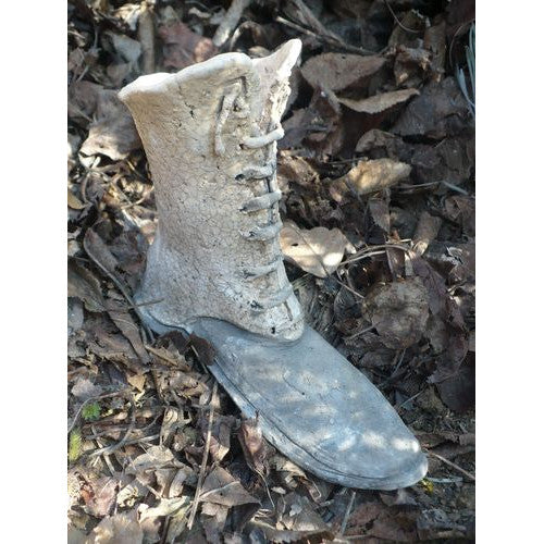 Raku Ceramic Boot Shape Flower Pot