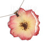 Large Soft Pink Pressed Real Flower Pendant