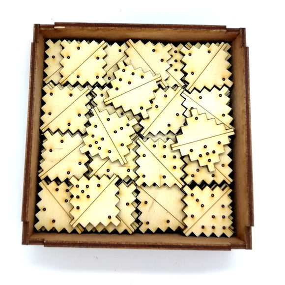 Square Domino Wooden Game