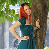 Petrol Green Infinity Dress