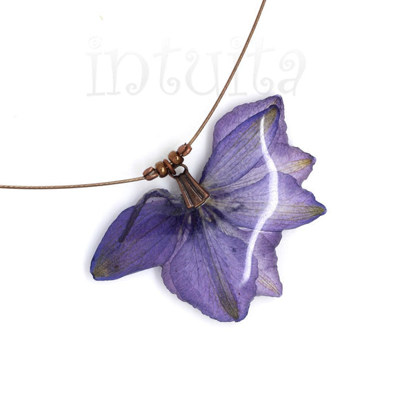 Violet Shade Pressed Real Flower Pendant