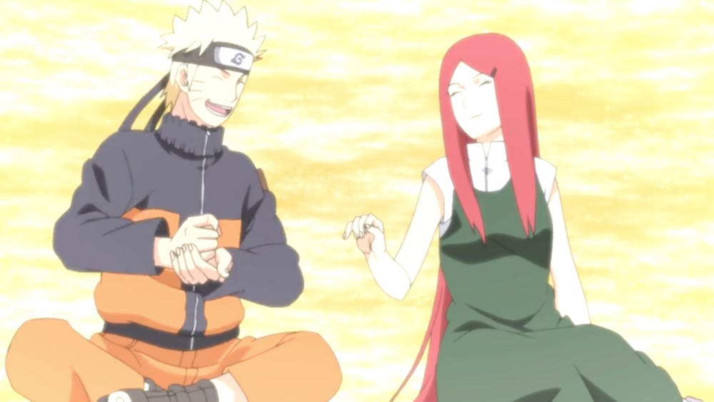 When does Naruto meet his Mom