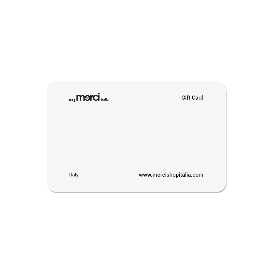 Digital Gift Card - MERCI ITALIA