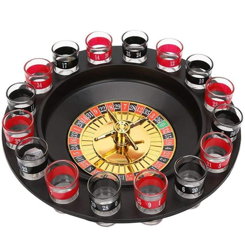 16 Slot Shot Glass Roulette - Party Set - Teqtus