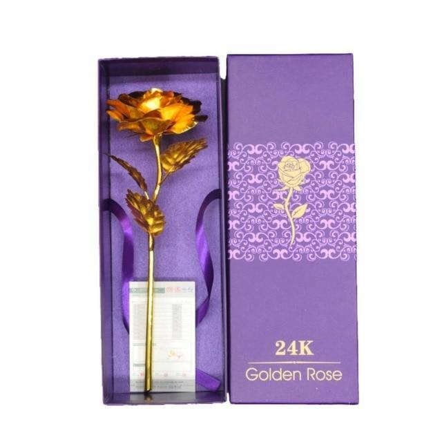 24K Foil Plated Gold Rose - Teqtus
