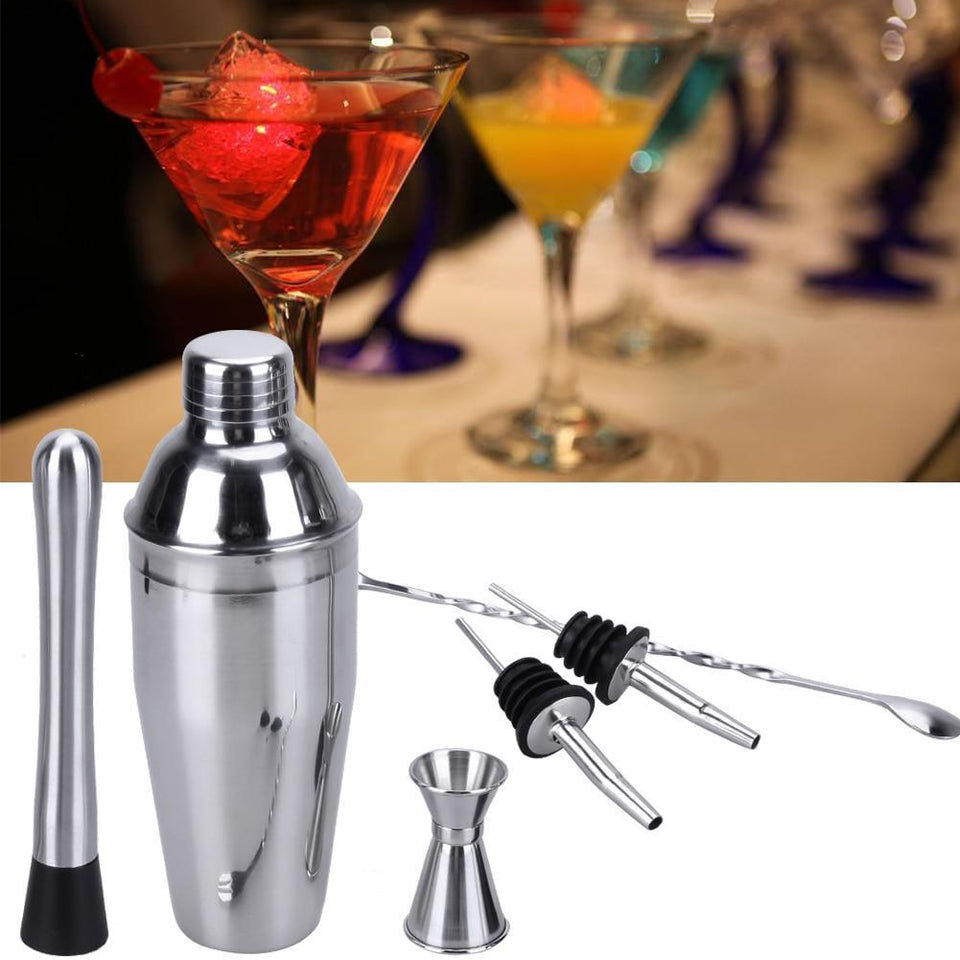 6Pcs 750ml Stainless Steel Cocktail Shaker - Teqtus