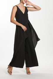 Plunge Neck Layered Jumpsuit