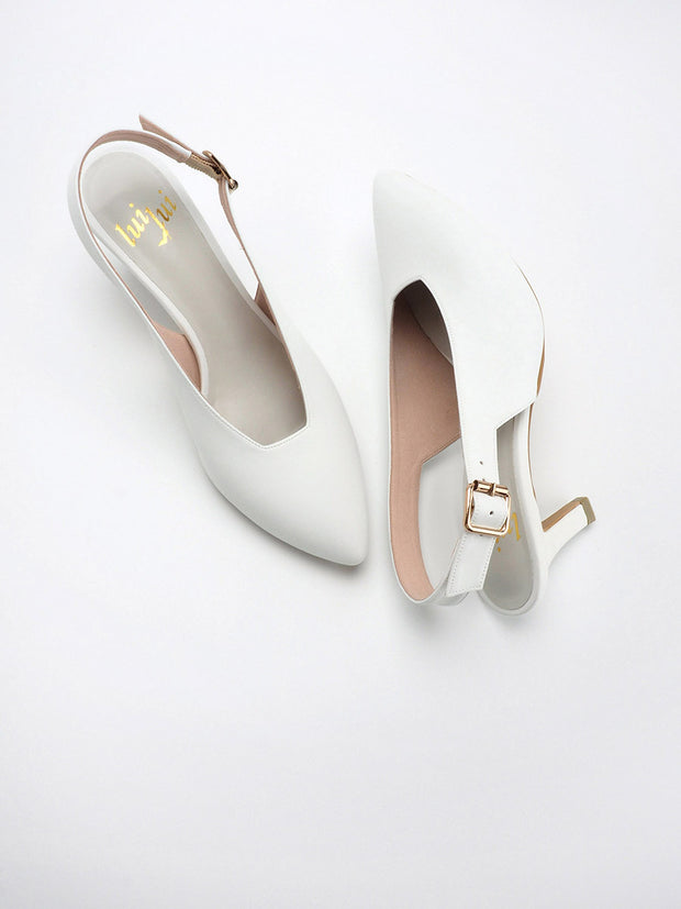 ESTELLE slingback pumps