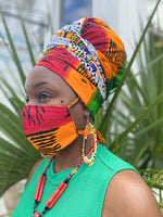 Load image into Gallery viewer, Junie HeadWrap Masl Set