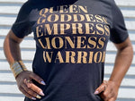 Load image into Gallery viewer, Queen Goddess Tee