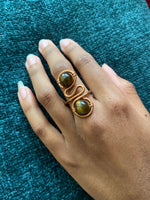 Load image into Gallery viewer, Copper Gem Stone Ring