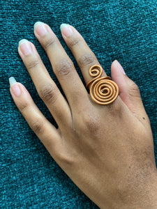 Sacred Spiral Copper Ring