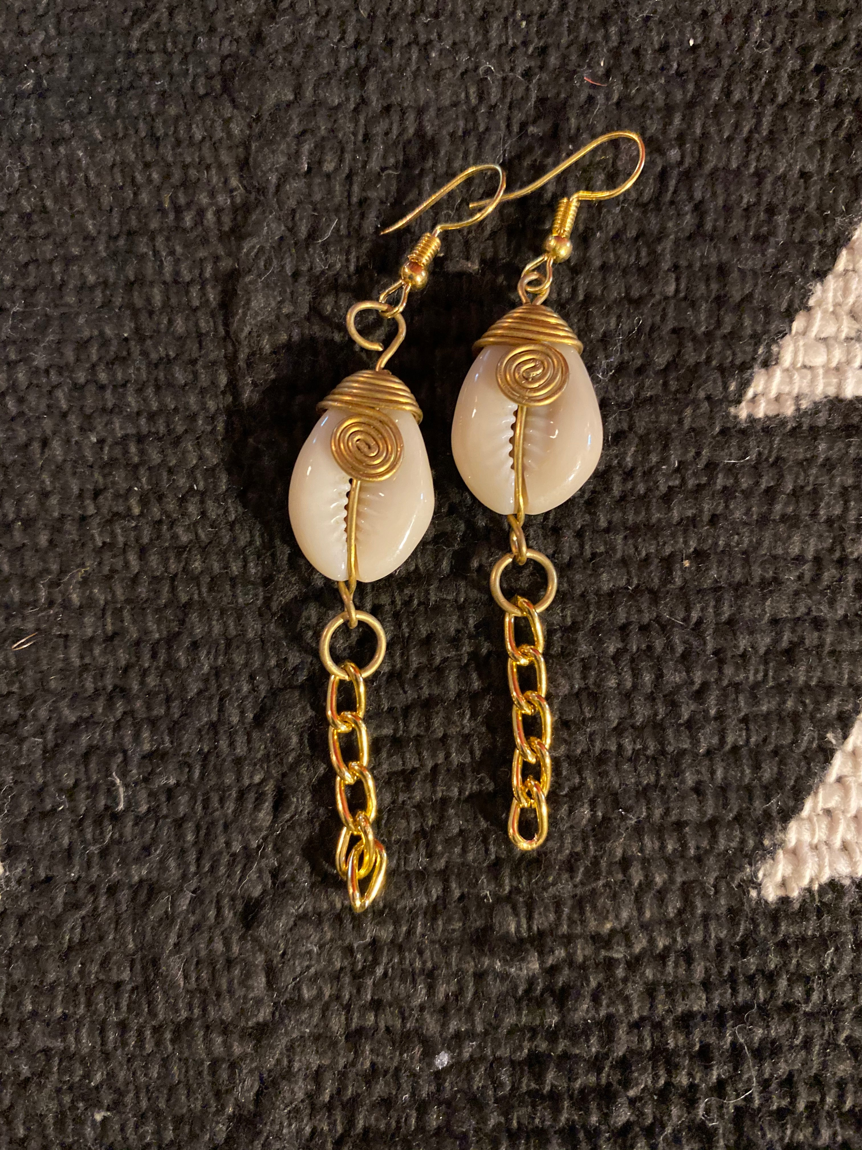 Ms. Kari Cowrie Earrings