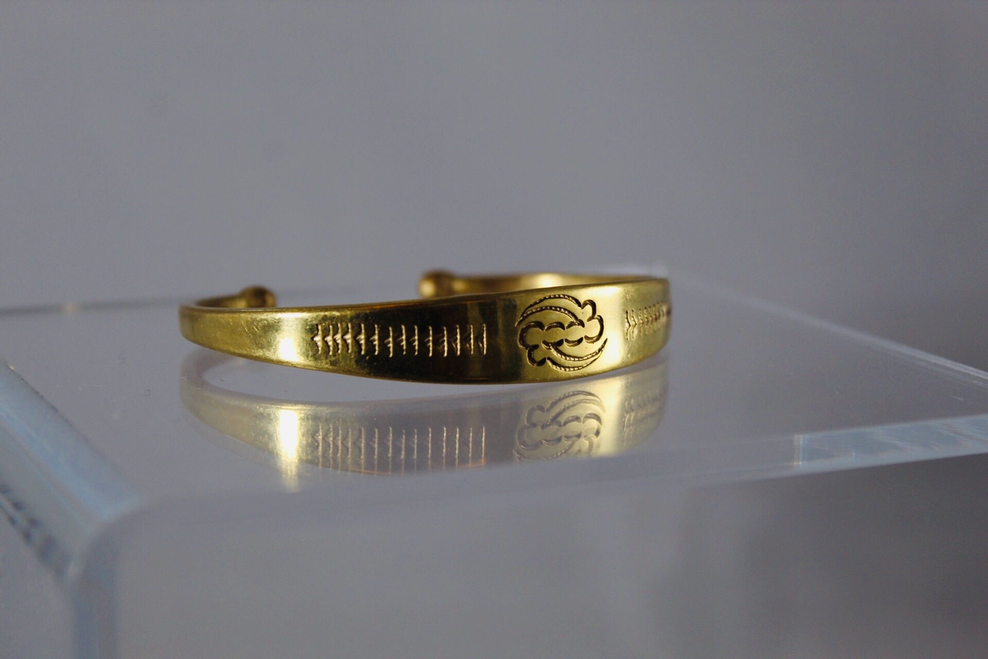 Saffia Brass Bangle Bracelet
