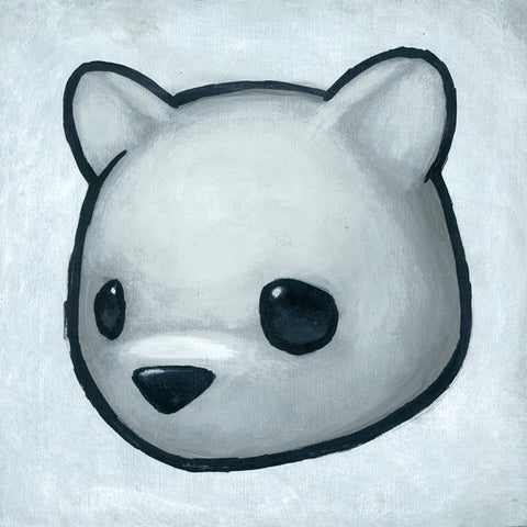Sad Bear - White
