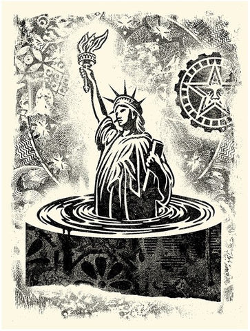 Damaged Stencil Liberty