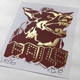 Faile Dog Red / Gold