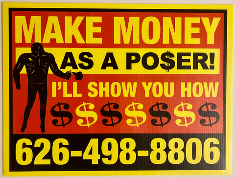 Make Money as a Poser!