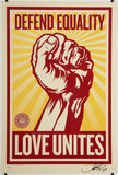 Love Unites - Giant Sticker