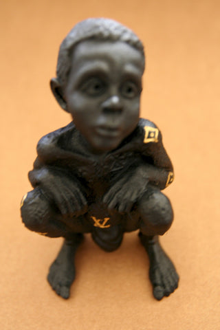 LV Child - Black Sculpture