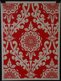 Parlor Pattern Inverse Cream and Red