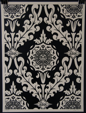 Parlor Pattern Inverse Cream and Black