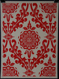 Parlor Pattern Cream and Red
