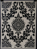 Parlor Pattern Cream and Black