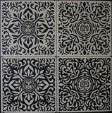 Japanese Fabric Pattern Set - Black
