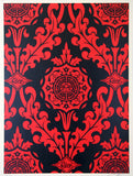 Parlor Pattern Inverse Red and Black