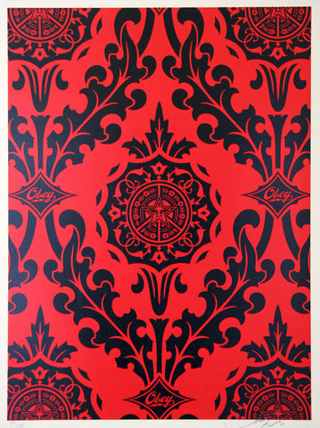 Parlor Pattern Red and Black