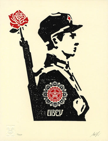 Rose Soldier - Letterpress