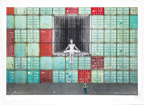 In the container wall, Le Havre, France, 2014