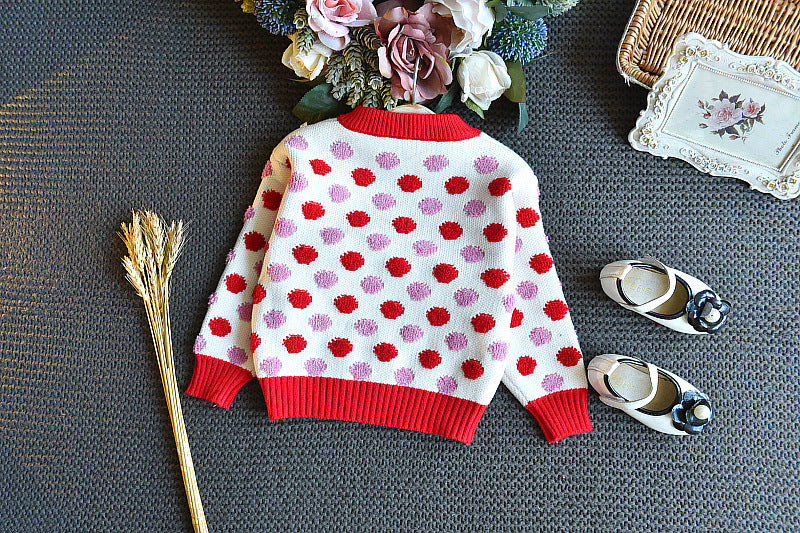 Warm Knitted Sweater Top and Skirt