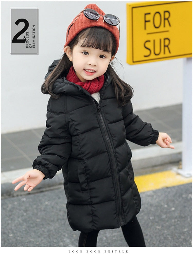 High-Quality Microfiber Long Hooded Jacket