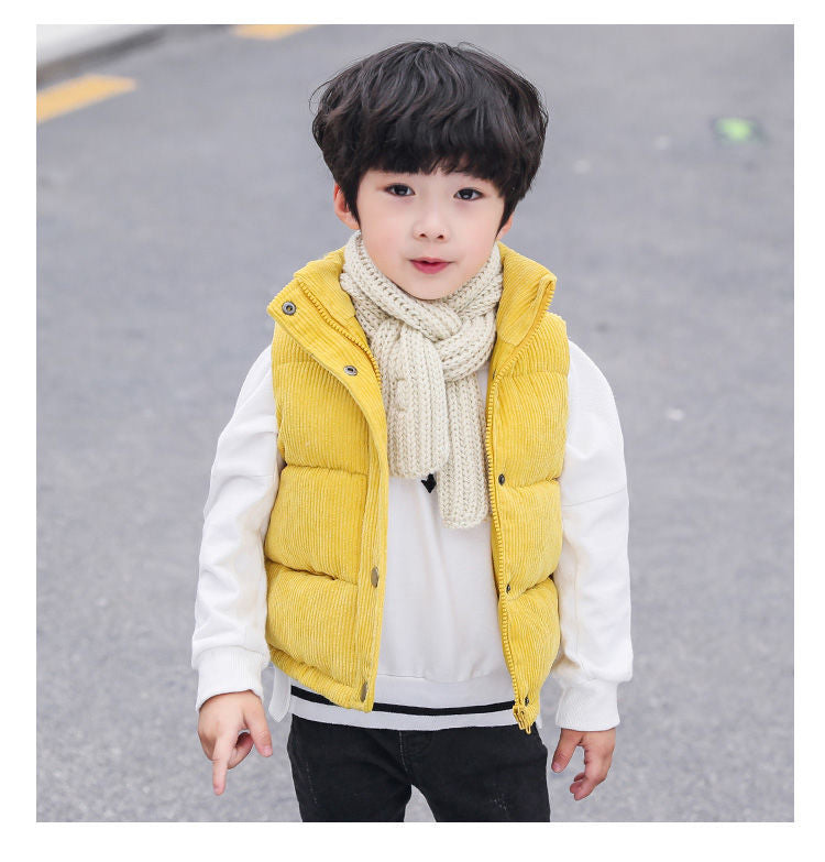 Trendy Sleeveless Warm Jacket for Boys
