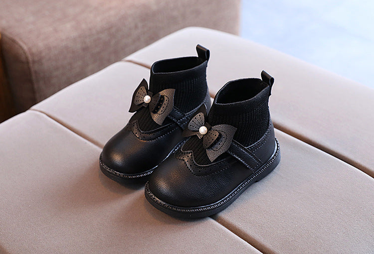 PU Leather Ankle Boots for Girls