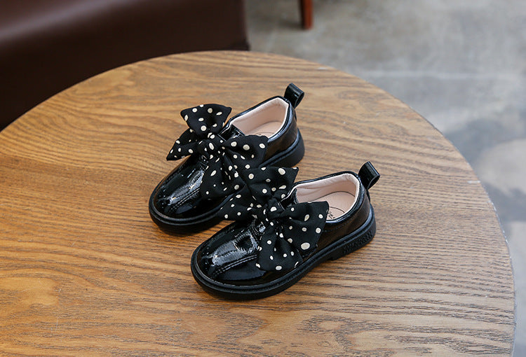 Shiny Big Bow Comfy Slip-On Shoes