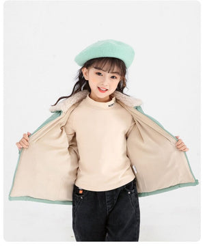 Trendy Woolen Padded Warm Jacket