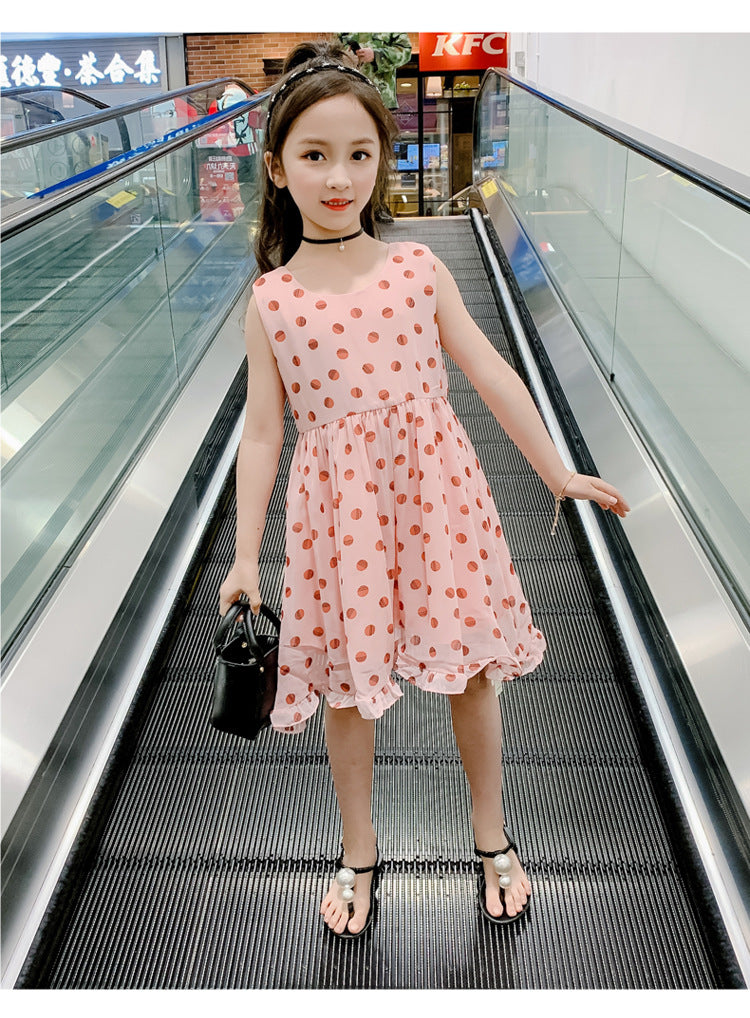 Classic Polka Dots Fancy Frock for Girls